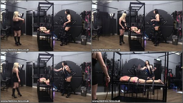 Turning His Back Red With Our Whips [FetishMania] Mistress Tiffany (776 MB)