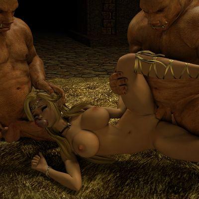 [Zafo] Fiora Gangbang [3D Porn Comic] elf girl