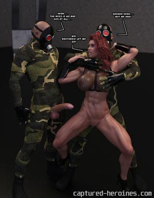 [Captured Heroines] Black Spider vs Dr Gaeko Part 1-2 [3D Porn Comic] rape