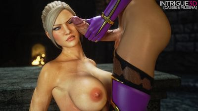 [Intrigue3D] Cassie And Mileena [3D Porn Comic] futanari