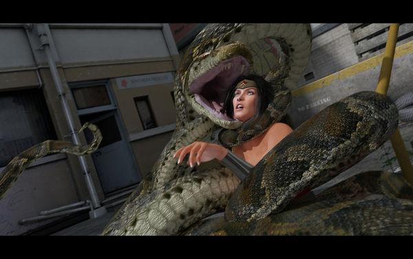 [Artdude41] Wonder Woman Vore [Guro] snake