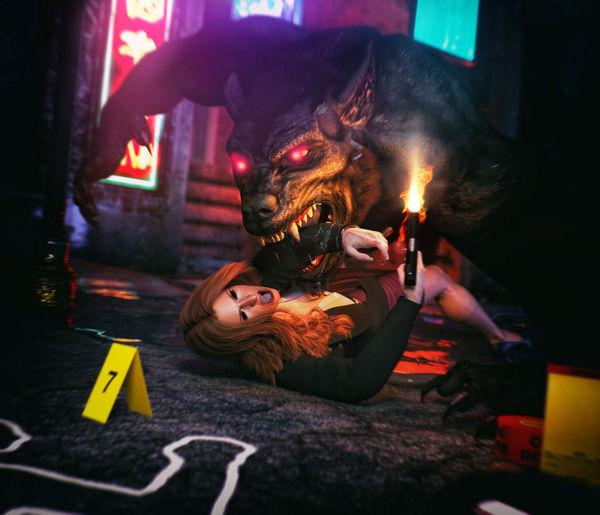 [Artdude41] Gillian Anderson - Eaten [Guro] monster