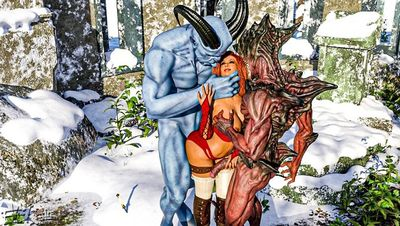 [Enetwhili2] Mating with Demons [3D Porn Comic] outdoors sex