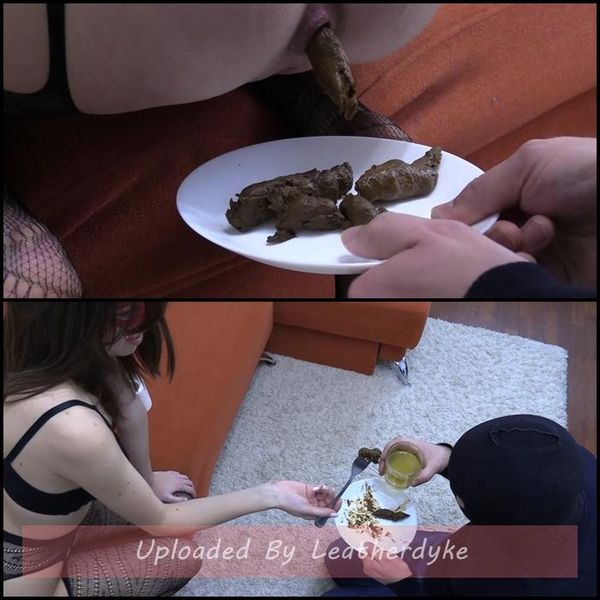Mark eats Karina's shit from a plate with MilanaSmelly | Full HD 1080p | Release Year: Dec 27, 2020