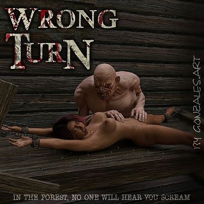 [GonzalesArt] Wrong Turn [3D Porn Comic] horror