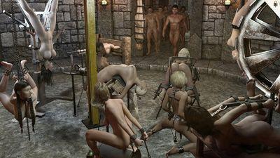 [Tawny Tomsen] Bondage BJ Party [3D Porn Comic] rape