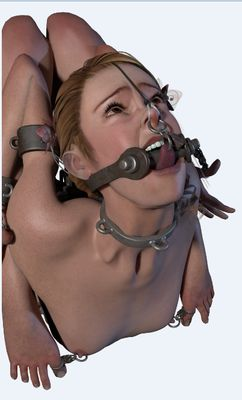 Art by AB Dearheart - The Contortionist [3D Hentai Artwork] nose hook