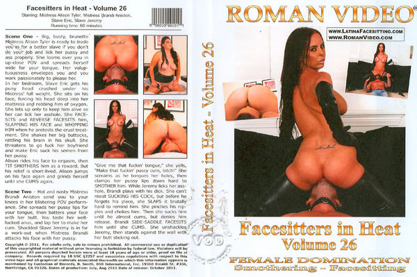 Facesitters In Heat Volume 26 [Roman Video] Brandy Aniston (527 MB)