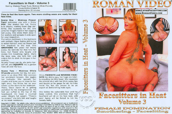 Facesitters In Heat Volume 3 [Roman Video] Flower Tucci (900 MB)