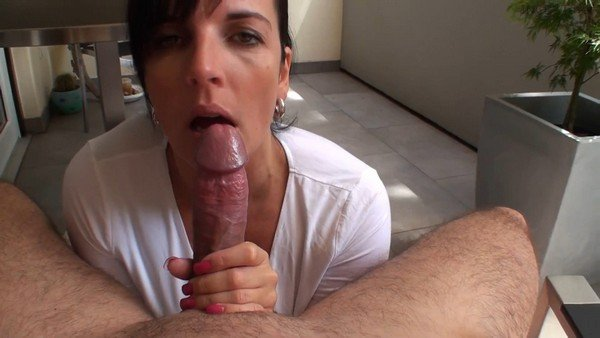 Wife Big Tits Blowjob Swallow