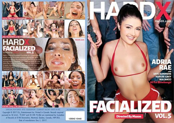 Facialized #5 [Hard X] Adria Rae