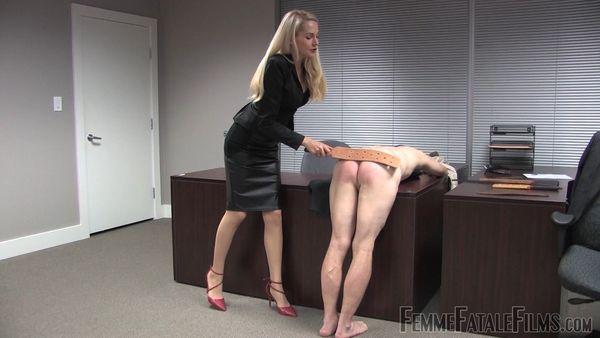 Over Your Desk - Eleise De Lacy - FemmeFataleFilms
